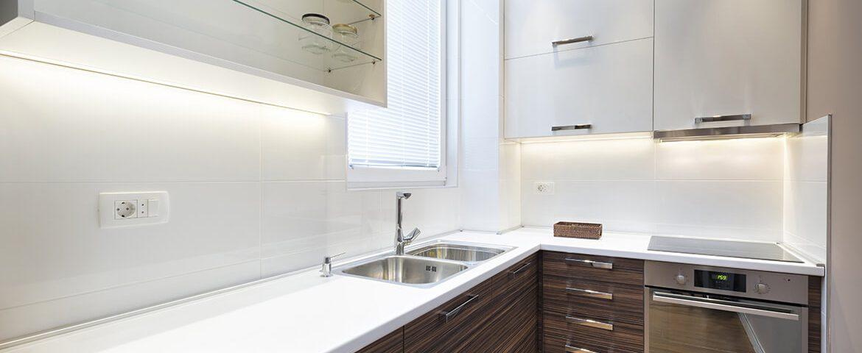 Modern kitchen interior and countertops