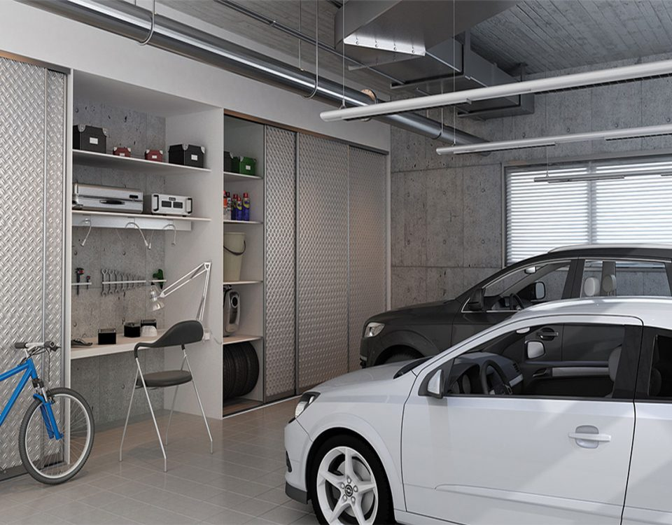 Door of aluminium spiral sheet metal